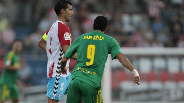 Güiza en el partido ante el Lugo