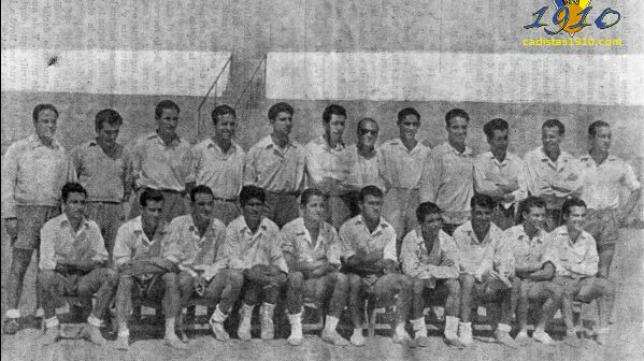 Cádiz de la temporada 1954/1955 (Foto: Cadistas 1910)
