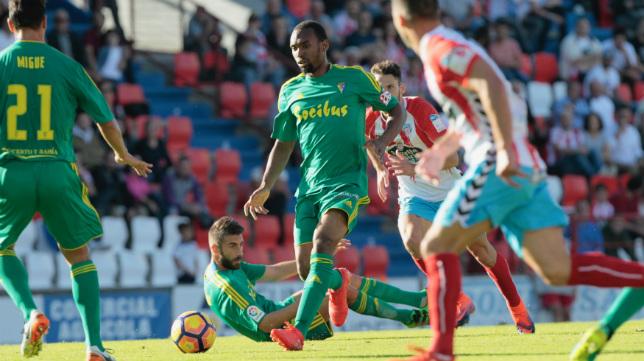 Abdullah en el partido de la pasada temporada en Lugo