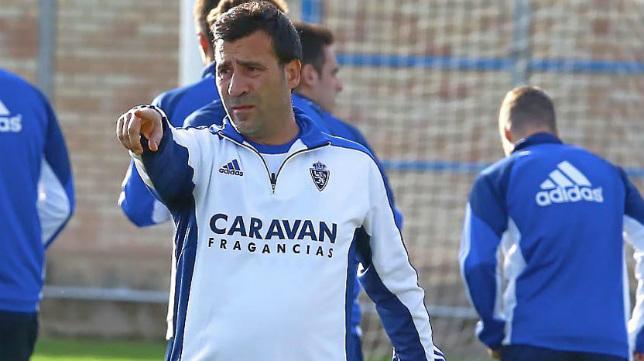 Agné, entrenador del Zaragoza.
