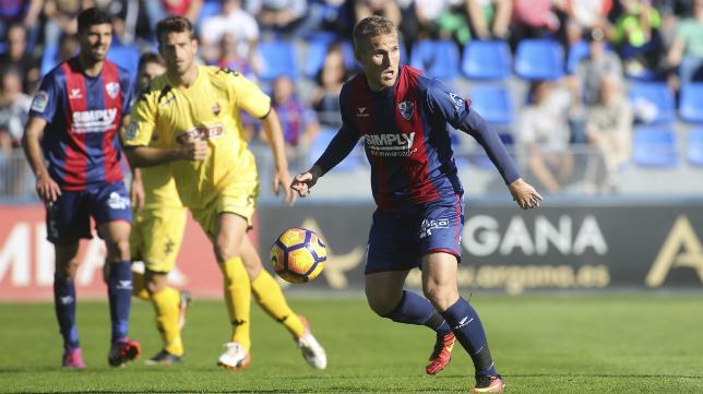 Samu Sáiz, jugador del Huesca Foto: Heraldo.