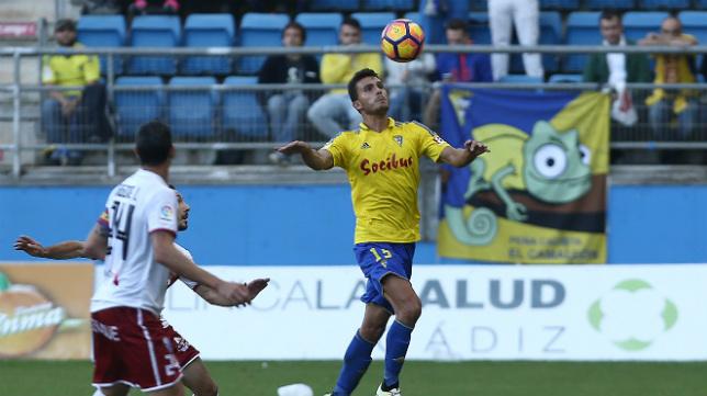 Luis Ruiz en el partido ante el Huesca