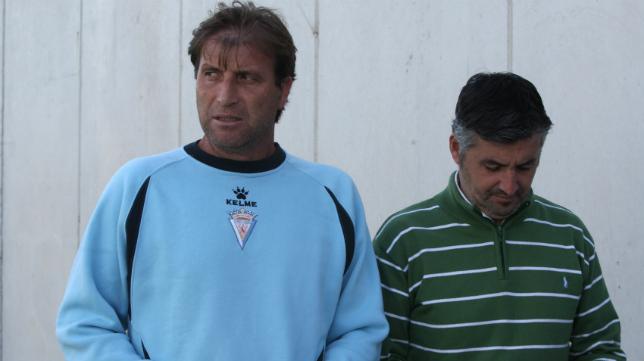Ángel Oliva en su etapa en el Cádiz CF