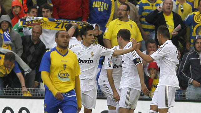 Imagen del Cádiz-Real Madrid Castilla de la temporada 2011-12.