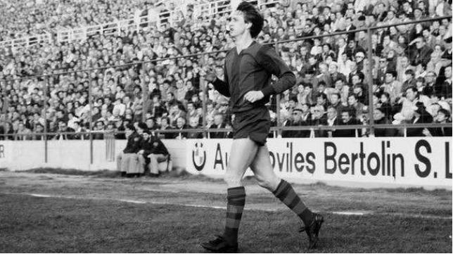 Johan Cruyff, durante su efímera etapa en el Levante UD