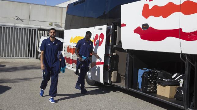 Los jugadores del Cádiz ya han partido hacia Elche.