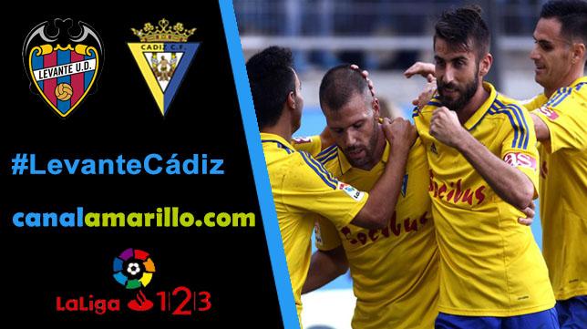 El Cádiz CF quiere dar la campanada ante el Levante