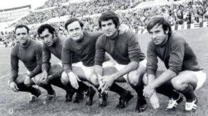 Los cinco magníficos del Real Zaragoza.