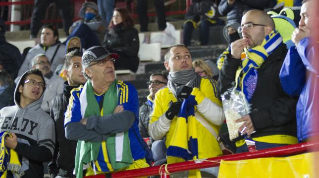 Seguidores del Cádiz CF en Tarragona