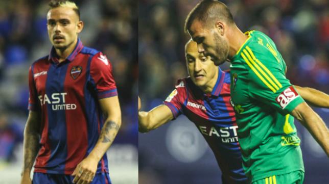 Roger y Ortuño, dos goleadores que ayer no marcaron.