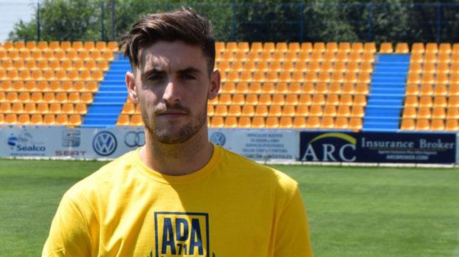 Samu Delgado, jugador del Alcorcón.