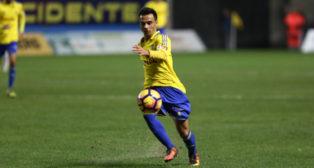 Álvaro García fue de lo mejor del Cádiz CF ante el Reus