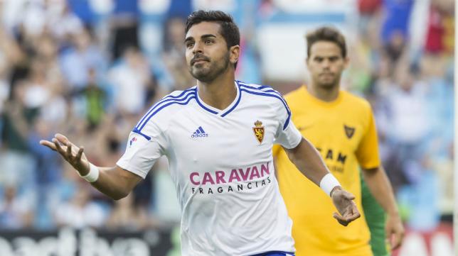 Ángel Rodríguez, el delantero goleador del Zaragoza.