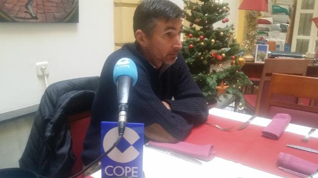 Moisés Arteaga en la tertulia de Deportes Cope Cádiz