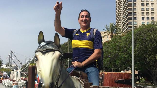 Álvaro, en las horas previas del partido en Alicante.