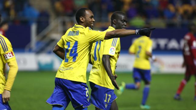 Abdullah celebra uno de sus goles esta temporada