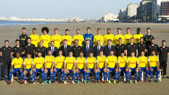 La foto oficial del Cádiz CF 2016/17. CCF