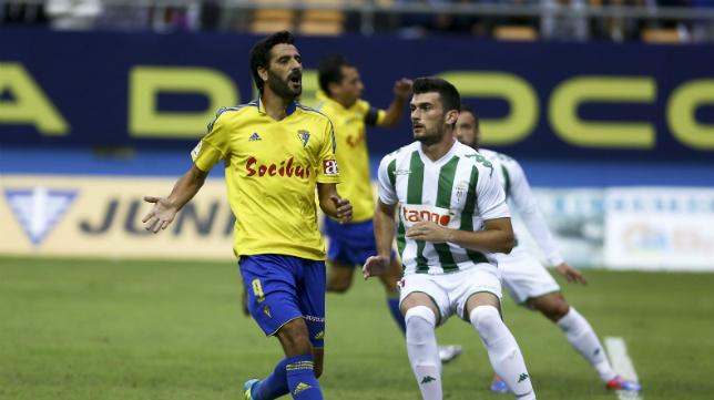 Dani Güiza, que jugó los 90 minutos del partido, no tuvo suerte aquel día.