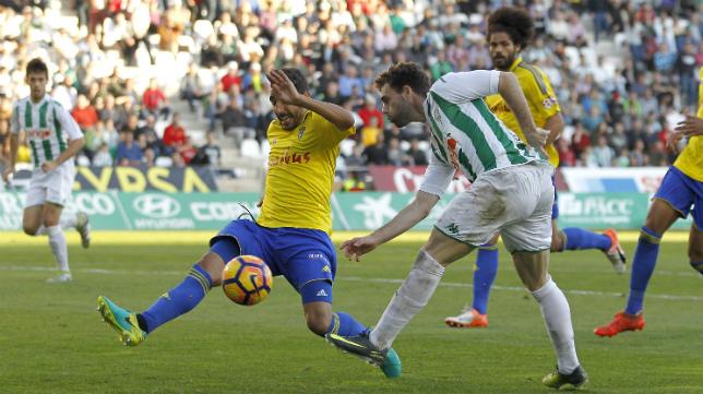 Carpio en el partido ante el Córdoba