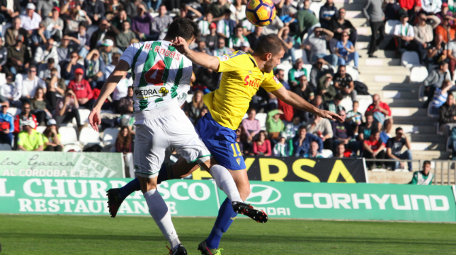 Ortuño fue una pesadilla para la defensa del Córdoba CF.