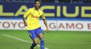 Eddy Silvestre en el partido ante el Zaragoza