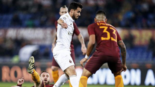 Suso está dejando huella en el Milan esta temporada.