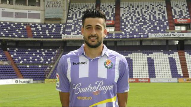 Álex Pérez, jugador del Valladolid. Foto: El Norte de Castilla.