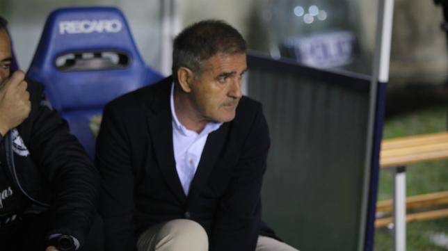 Paco Herrera, entrenador del Sporting.