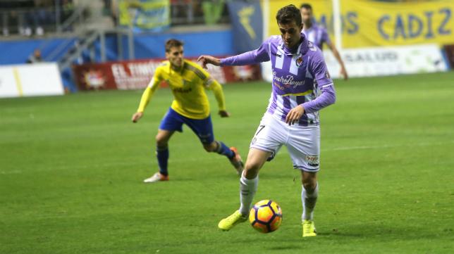 Juan Villar regresó a Carranza con la camiseta del Valladolid.