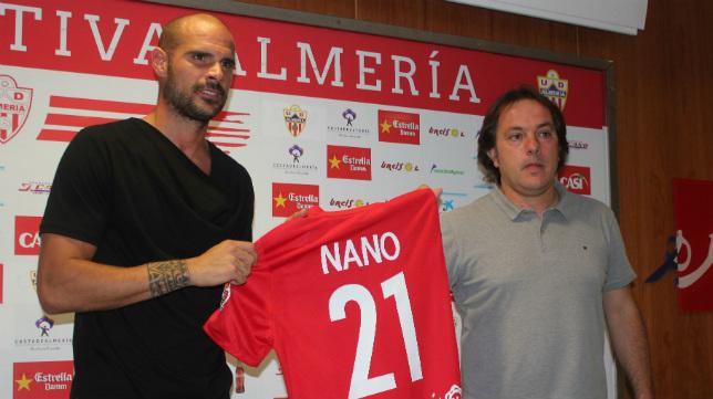 El excadista Nano González fue presentado como jugador del Almería el pasado verano.