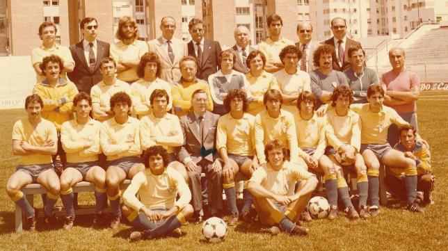 Plantilla del Cádiz CF que logró ascender en 1981
