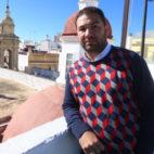 El director deportivo del Cádiz CF, Juan Carlos Cordero, en la terraza del hotel Las Cortes.
