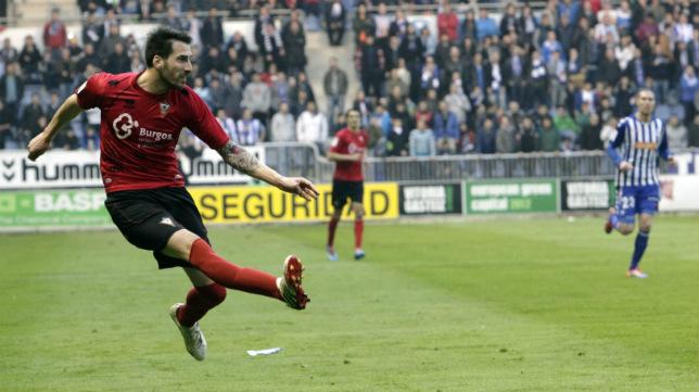 El último equipo español donde jugó Malón fue el Mirandés.