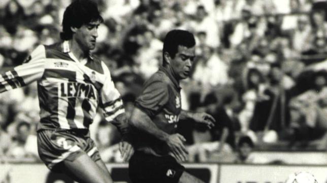 Cervera en su etapa de jugador en el Mallorca