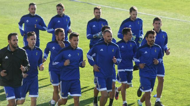 Imagen del primer entrenamiento del año.