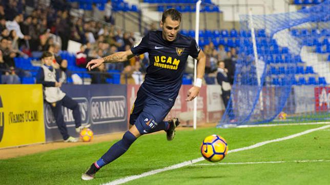 Jesús Imaz ya es jugador del Cádiz CF. FOTO: UCAM