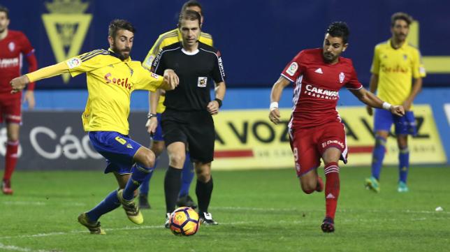 José Mari en el Cádiz CF - Zaragoza de Carranza.