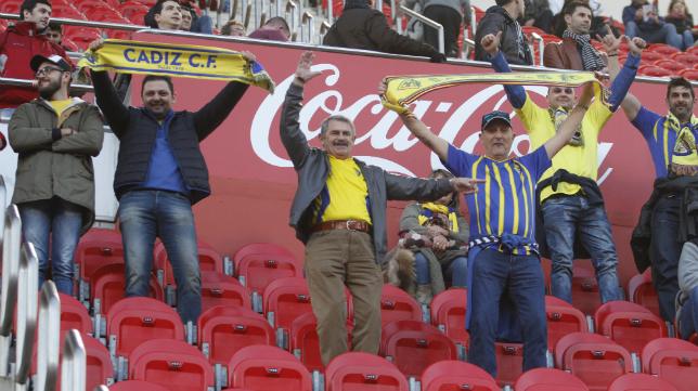 Aficionados del Cádiz en Mallorca.