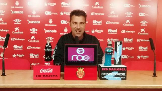 Javier Olaizola, entrenador del Mallorca. Foto: RCDM.