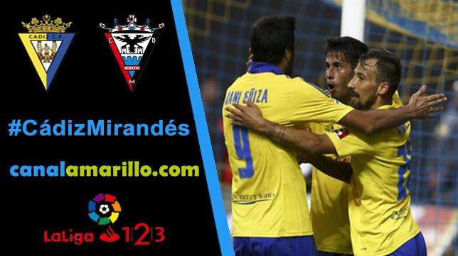 El Cádiz CF quiere seguir ganando en casa ante el Mirandés
