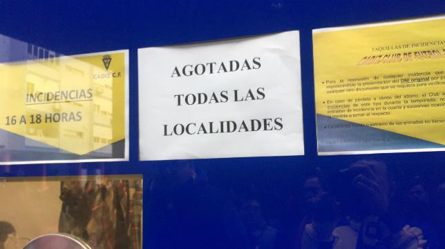 Sin entradas para el duelo en Carranza (Foto: Jorge Kadista)