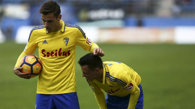 Brian y Álvaro García en un momento de la pasada temporada.