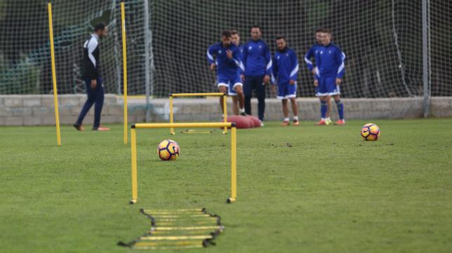 Imagen de un entrenamiento desarrollado en El Rosal.