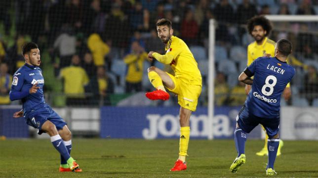 Jose Mari se lesionó en Getafe