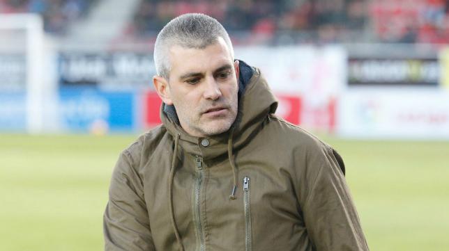 Javier Álvarez de los Mozos, entrenador del CD Mirandés: Foto: CD Mirandés.