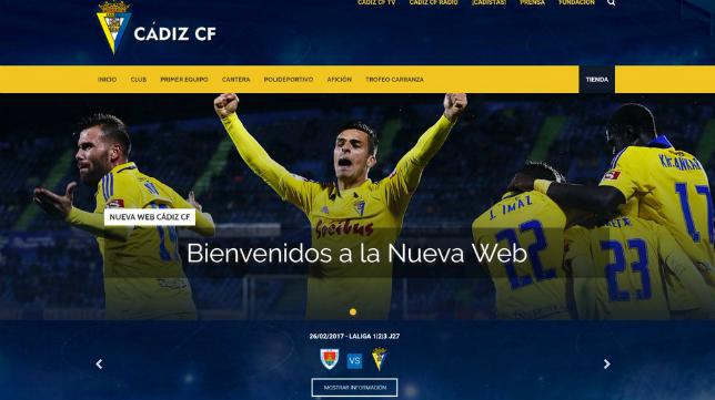 El Cádiz CF ya ha estrenado su nueva web.