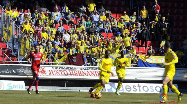 La afición del Cádiz en Soria (Foto: La Liga)