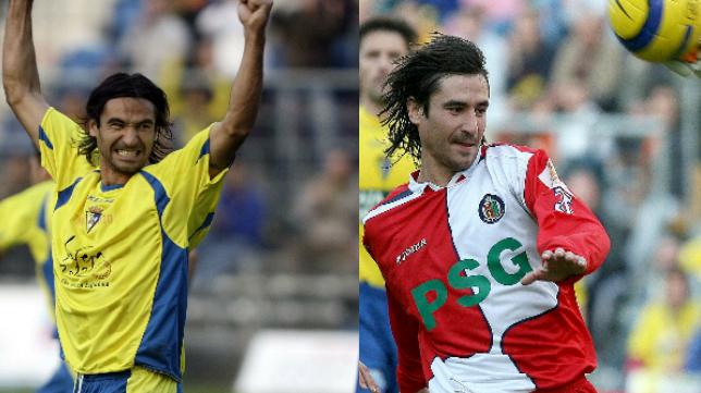 Pachón en su etapa en el Cádiz CF y en el Getafe
