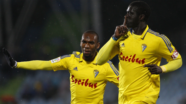 Sankaré celebra su gol en Getafe.