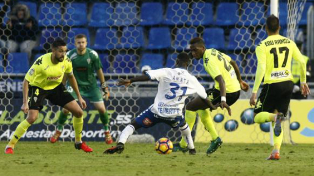 Amath está presente en la lista de convocados del Tenerife para viajar a Cádiz.